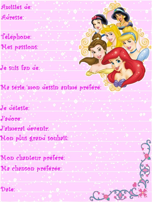 Carte Invitation Anniversaire Princesse Disney Nanaryuliaortega Blog