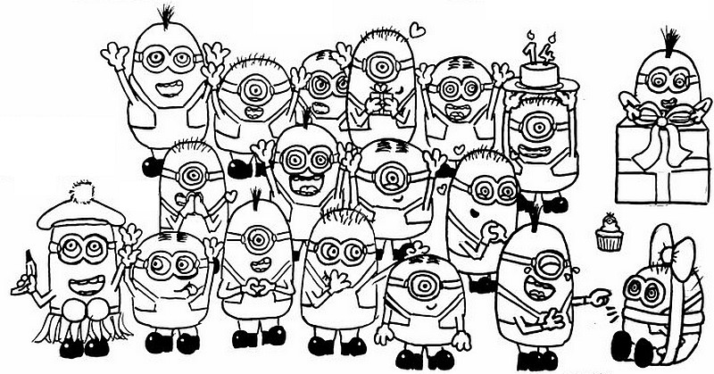 Kleurplaten Minions Kevin.Index Of Coloriages 1004 G
