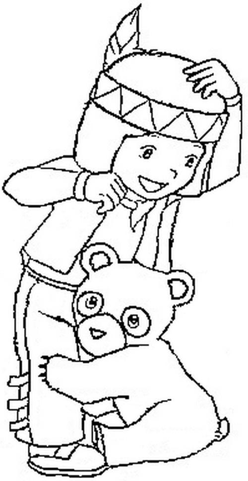 Coloriage bouba le petit ourson bouba et moy le petit indien 3 - Coloriage petit indien imprimer ...