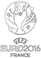 Coloriage Logo Euro 2016 en France