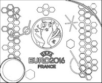Coloriage Logo Championnat d'Europe de Football 2016
