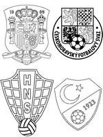 Coloriage Groupe D: Espagne - Croatie - République Tchèque - Turquie