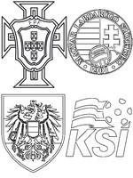Coloriage Groupe F: Portugal - Autriche - Hongrie - Islande