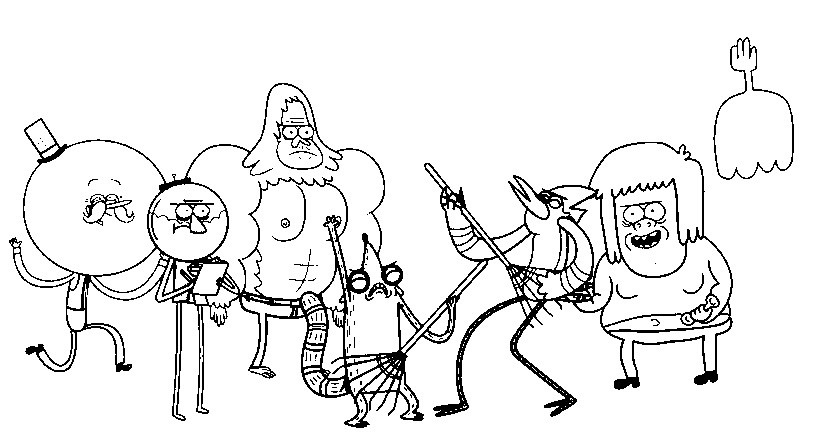 Regular Show Characters Coloring Pages - Bltidm