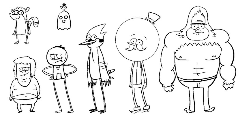 Coloriage regular show 7 for Regular show coloring pages