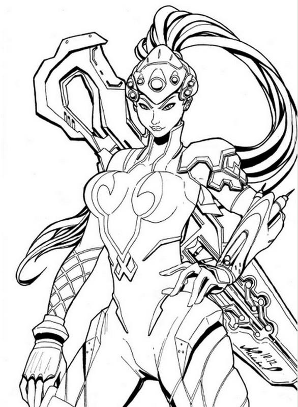 Kleurplaat Overwatch Doomfist Coloriage Overwatch Widow 6