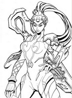 Coloriage Widow
