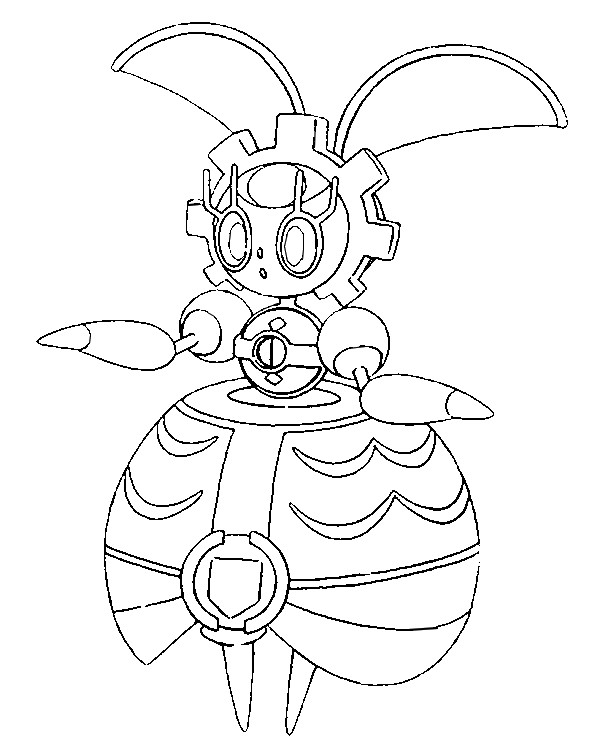 Coloriage pokemon soleil et lune magearna 7 for Pokemon sun and moon coloring pages