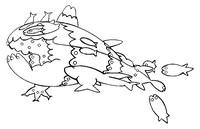 Coloriage Froussardine (Forme Banc)