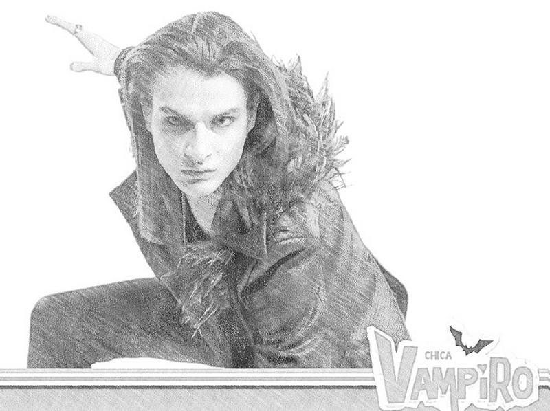 Dibujos para colorear chica vampiro - Coloriage de chica vampiro ...