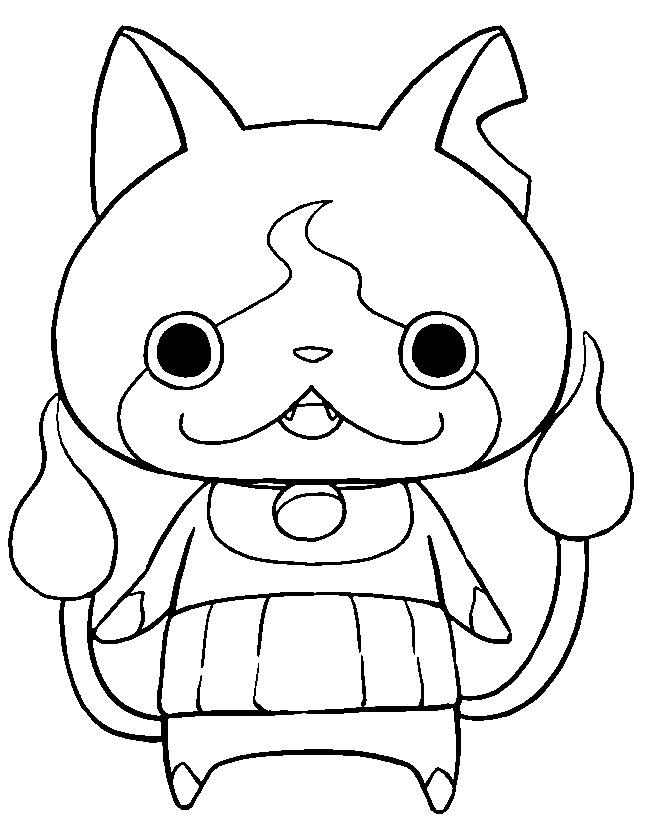yo kai watch coloring pages - photo#8