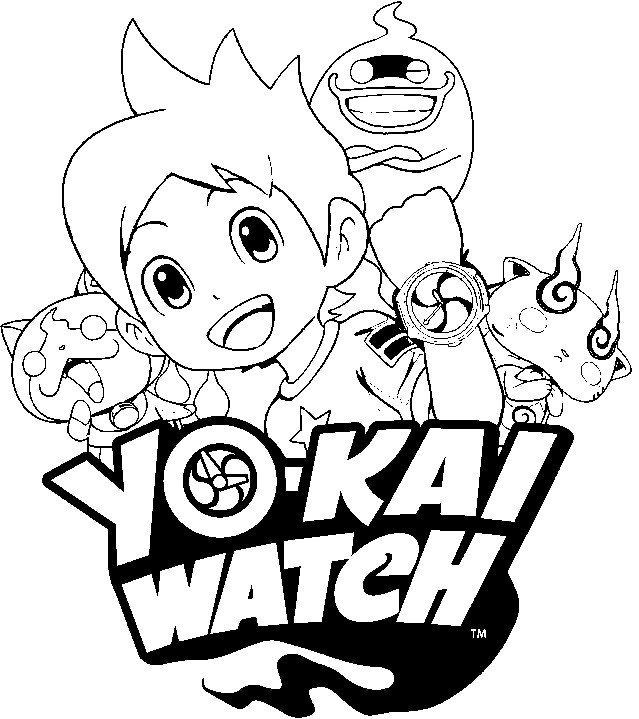 Yo kai watch free colouring pages for Yo kai watch coloring pages