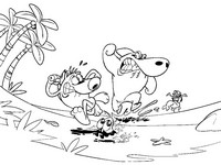Coloriage Zig, Sharko, Bernie et Marina