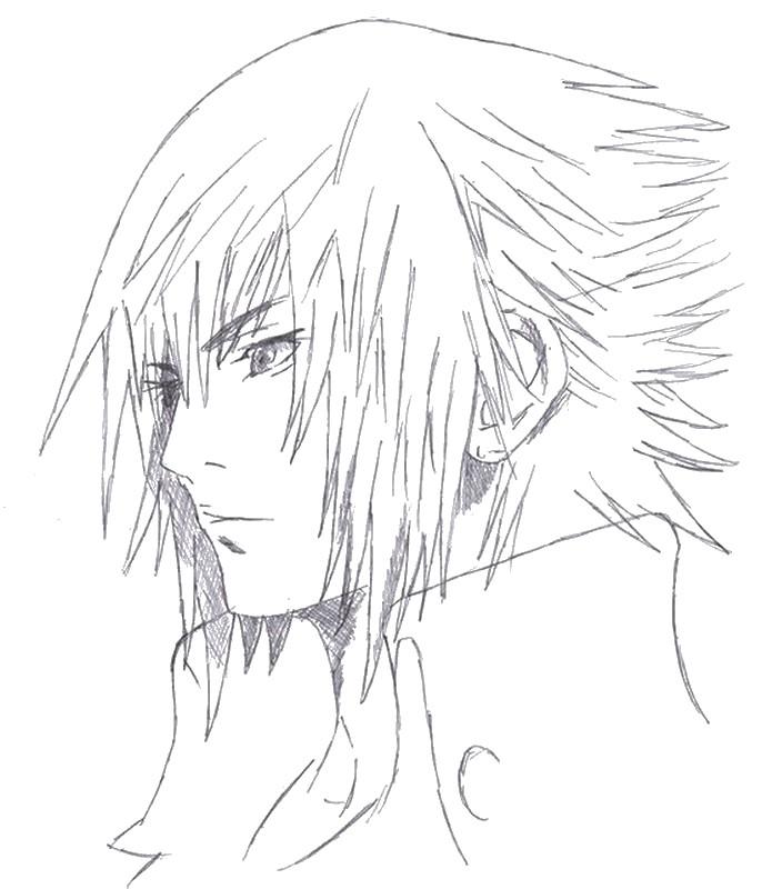 Coloriage Final Fantasy : Final Fantasy XV - Noctis 8