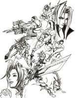 Coloriage Final Fantasy VII