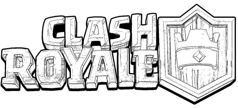 coloriage clash royale logo clash royale 2. Black Bedroom Furniture Sets. Home Design Ideas