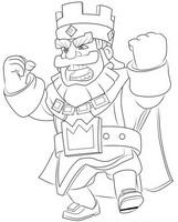 Coloriage Roi en colère