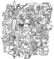 Coloriage Clash of Clan & Clash Royale