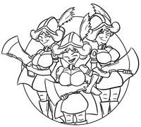 Coloriage Trois mousquetaires