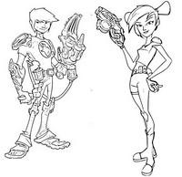 Coloriage Trixie & Eli Shane