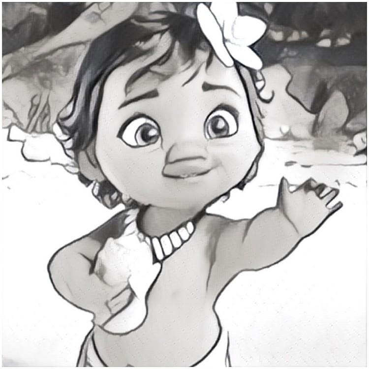 Coloriage Vaiana La Legende Du Bout Du Monde Vaiana Enfant 1