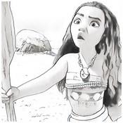 Coloriage Vaiana jeune fille
