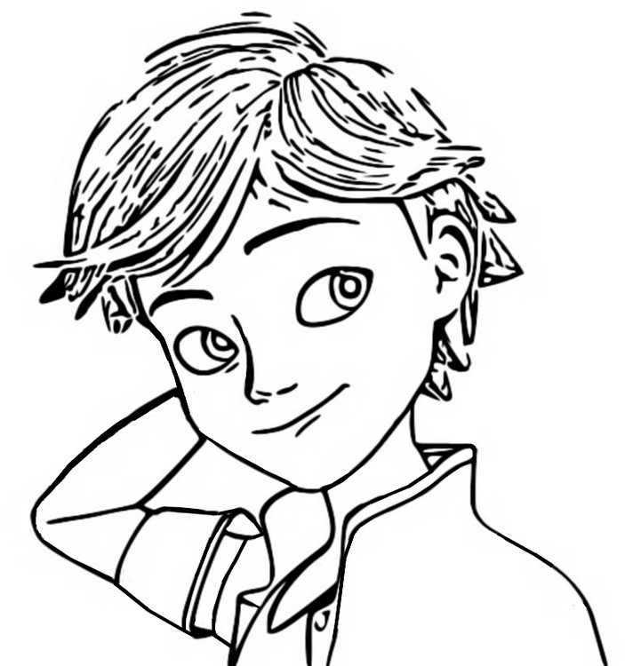 Coloriage Adrien Agreste - Miraculous