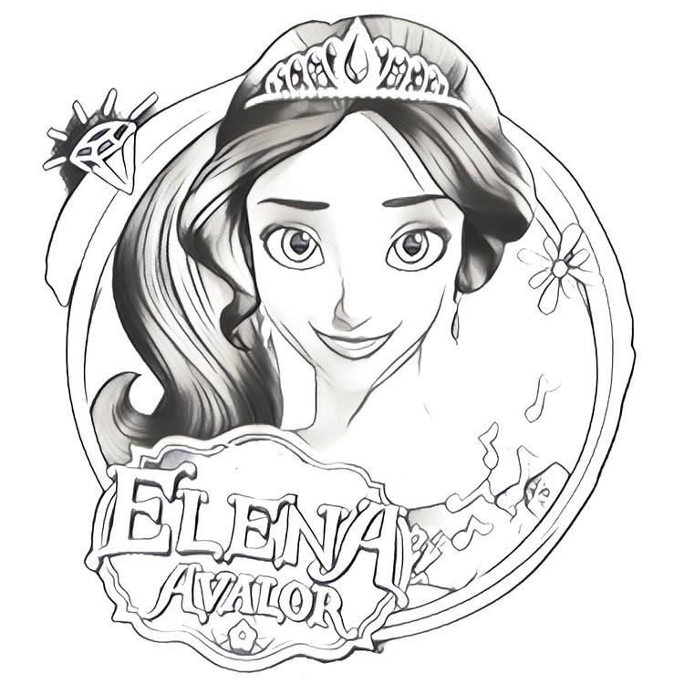 Coloriage Elena d'Avalor 2