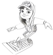 Coloriage Subway Surfers