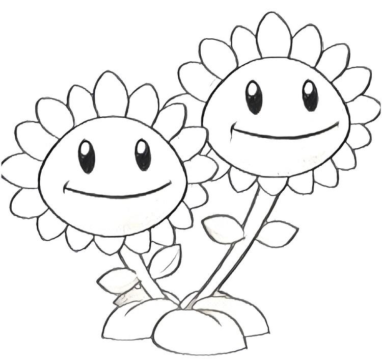 Coloriage de plantes a imprimer for Plante vs zombie 2