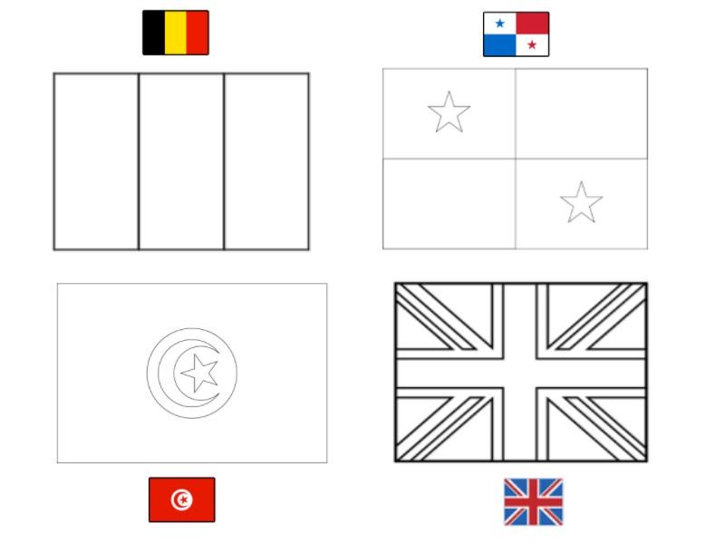Coloriage Foot Belgique.Coloriage Coupe Du Monde De Football 2018 Groupe G Belgique