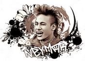 Coloriage Neymar - Brésil