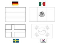 Coloriage Groupe F: Allemagne - Mexique -Suède - Corée du sud