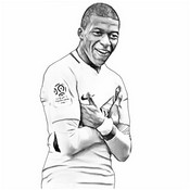 Coloriage Kylian M'Bappe - France