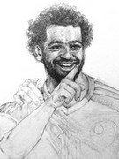 Coloriage Mohamed Salah