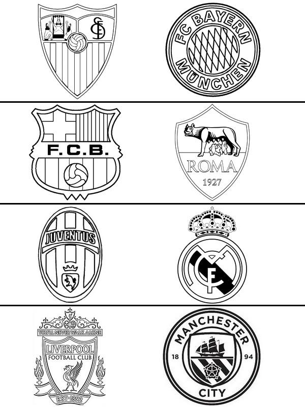logo chelsea kleurplaat malvorlagen uefa chions league