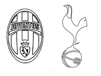 Coloriage Juventus Football Club- Tottenham Hotspur FC