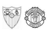 Coloriage Seville FC - Manchester United FC