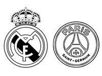 Coloriage Real Madrid CF - Paris Saint-Germain