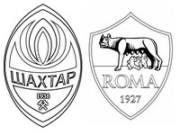 Coloriage FK Chakhtar Donetsk - AS Rome