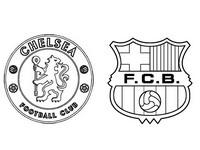Coloriage Chelsea FC - FC Barcelone