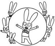 Coloriage Simon et ses amis