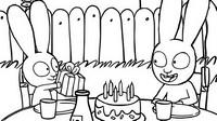 Coloriage L'anniversaire de Simon