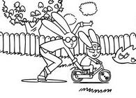 Coloriage Simon apprend à faire du vélo