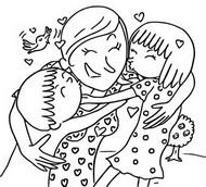 Coloriage La fête des mères