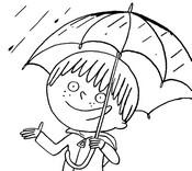 Coloriage Sami sous la pluie!