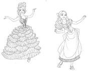 Coloriage Clara et la Fée Dragée