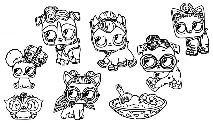 Coloriage Poupees Lol Surprise Fuzzy Pets 15