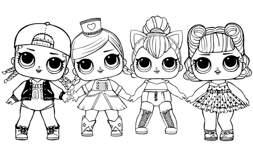 coloriage poupées lol surprise  4 poupées lol surprise 8