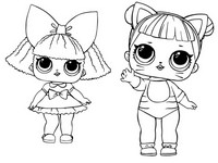 Coloriage LOL Surprise Bébé Chat et Reine scintillante